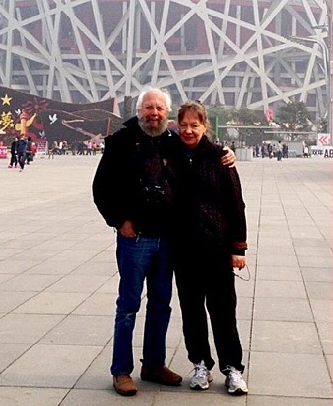 Charlie and Jenney at the Olympic Village in Beijing